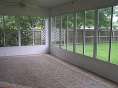 This screened in porch is spacious and has a great backyard and outdoor porch to accompany it! CLICK HERE to see more of this home!