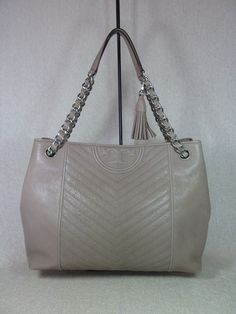 e6b34a357 Tory Burch Fleming Distressed Taupe Leather Tote. Get one of the hottest  styles of the. Tradesy
