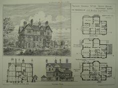 Brents Brook, the Residence of J. E. Boehm, Holmwood, Surrey, England, UK, 1881, Robert W. Edis