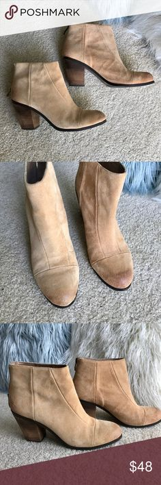 Vince Camuto Suede boots Vince Camuto suede ankle boots. Great color that goes with everything. Barely worn. Vince Camuto Shoes Ankle Boots & Booties