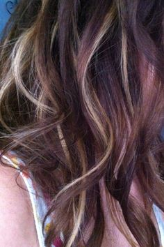 Close up of my golden brown hair with caramel highlights