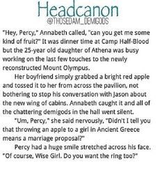 Awwww everyone probably started screaming in excitement and congratulating the both of them because. just Percabeth!<<<< can't argue with that but please read the comments to find out about the petition on percy Jackson netflix series Percy Jackson Head Canon, Percy Jackson Memes, Percy Jackson Books, Percy Jackson Fandom, Aphrodite, Percy And Annabeth, Annabeth Chase, Percy Fanfic, Percabeth Fanfiction