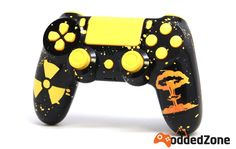 """NEW RELEASE! ModdedZone introducing """"Nuclear Explosion"""" PS4 RAPID FIRE MODDED CONTROLLER. Custom Modded Controller with amazing design, custom mixed paints and crystal finishes. Available EXCLUSIVELY at ModdedZone.com"""