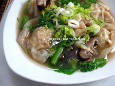 Just Try & Taste: Sup Wonton dengan Jamur Shiitake
