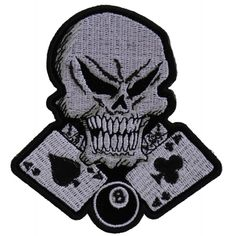 Crackled Skull Iron On White 6 Inch Skull Heat Transfer Vinyl