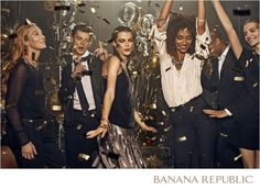 Banana Republic Brings a Festive Mood to Holiday Campaign - Giuditta Luddy Christmas Campaign, Party Mode, Xmax, Nye Party, Xmas Party, Campaign Fashion, New Years Party, Party Fashion, Holiday Fashion