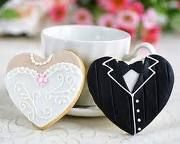 Bride & Groom Favor cookies