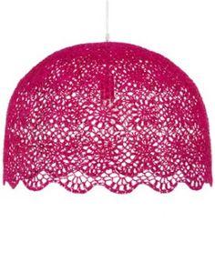 mod le abat jour au crochet mod les tricot accessoires. Black Bedroom Furniture Sets. Home Design Ideas