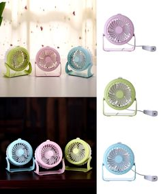 [Visit to Buy] Portable mini USB super silent fan, creative home table, ABS aromatherapy fan, mute desktop, aromatherapy water mist fan #Advertisement