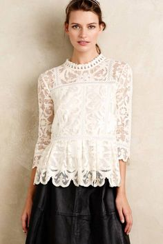 Nautical Lace Top by HD in Paris | Pinned by topista.com