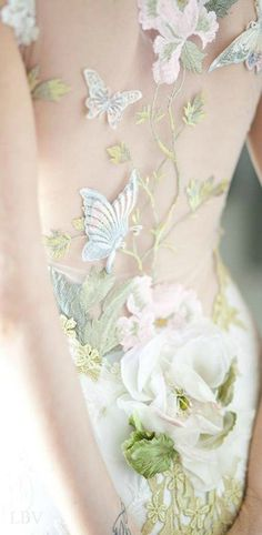 Vivid Details | LBV ♥✤ Claire Pettibone 'Papillon' wedding dress, Still Life Collection