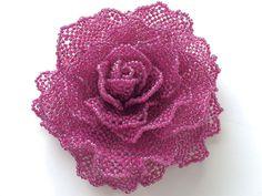 紅紫のひらひら薔薇コサージュ   -   Rose corsage fluttering of calf
