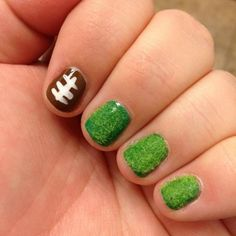 Football Nail Art I love this!!!!