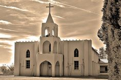 Our Lady of Guadalupe Church, South of Las Cruces, New Mexico, USA