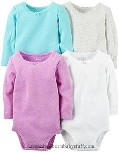Baby Girl Clothes Carter's Baby Girls Multi-Pack Bodysuits, Assorted, 6 Months