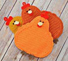 35 Best Image of Crochet Chicken Potholder Pattern - Best Daddies Easter Crochet, Crochet Art, Crochet Home, Crochet Patterns, Crochet Kitchen, Crochet Christmas Gifts, Crochet Gifts, Pinterest Crochet, Crochet Chicken