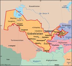 Map of Uzbekistan: Capital and largest city 	Tashkent, official languages Uzbek, government Unitary presidential state, Uzbekistan's population is 96.3% Muslim, the economy relies mainly on commodity production, including cotton, gold, uranium, and natural gas. Uzbekistan's domestic policies on human rights and individual freedoms have been criticised by some international organizations.