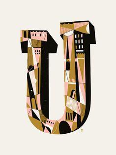 Letter U by Methane Studios