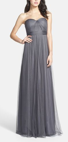 Neutral evening gowns that would be gorgeous bridesmaids dresses!