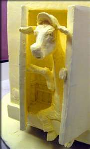butter sculpture--famous at county fairs and state fairs in Wisconsin.