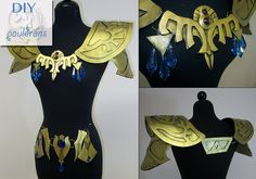 DIY How to make Princess Zelda Armor : Pauldrons (shoulder) » Firefly Path (pattern also available for purchase)