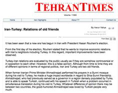 Iran-Turkey: Relations of old friends by Harun Yahya on Tehran Times
