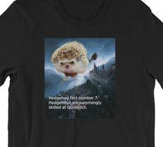 677dd6cee Items similar to Hedgehog Unisex T-Shirt: Funny Hedgehog Fact #7 Hedgehog  Gift on Etsy