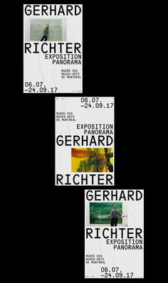 Exposition Gerhard Richter on Behance Graphic Design Posters, Graphic Design Typography, Corporate Design, Business Design, Screen Print Poster, Poster Poster, Brutalist Design, Book Design Layout, Design Layouts