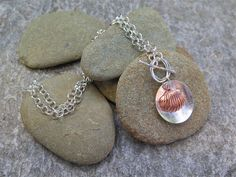 WASHED ASHORE, STERLING SILVER BEACH INSPIRED NECKLACE