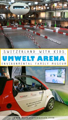 Fun family museum with lots of interactive displays focused on taking care of our environment. Kids loved playing the educational games scattered through the museum and testing funky scooters and bikes on the enormous track. Near Zurich, Switzerland. www.momstotszurich.com