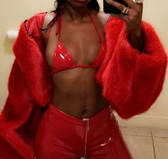 y sc // krissss. Fashion Killa, Look Fashion, Womens Fashion, Fashion Styles, Red Aesthetic, Outfit Goals, Outfit Ideas, Dress To Impress, Cute Outfits