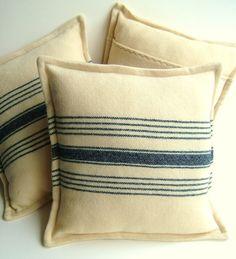 Vintage Dundee Blanket Pillows Cushions. $32.00, via Etsy.