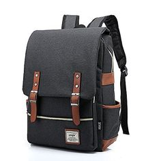 MnSue British Style Casual Unisex Waterproof Oxford School Backpack Rucksack Black * Want additional info? Click on the image.