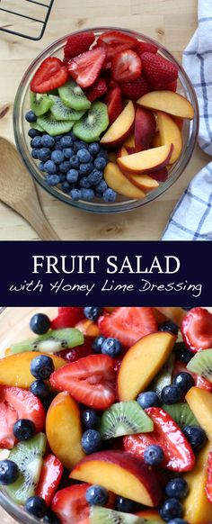 Fruit Salad with Honey Lime Dressing