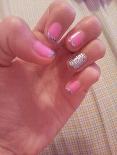 Nail art for short nails |China Glaze|  OPI Nails |pink glitter nails |french tips |
