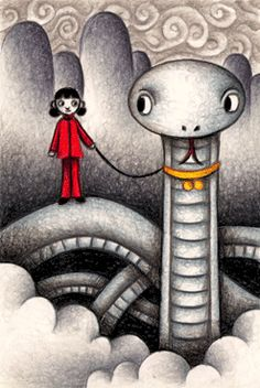 Fairy tale pictures - Friend's white snake