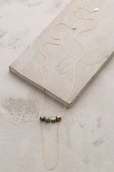 Draped Danxia Necklace #anthropologie-I love jewelry that is different. This is uniquely beautiful!