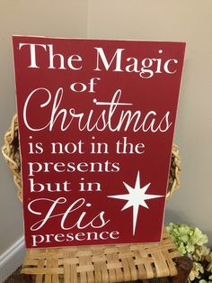 Christmas Sign,, Christmas Decor, North Star .religious sign..Christmas gift. $48.95, via Etsy.