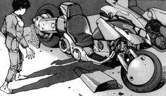 A Manga Art, Manga Anime, Shotaro Kaneda, Akira Kaneda, Akira Anime, Katsuhiro Otomo, Red Motorcycle, Neo Tokyo, Yamagata