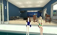Avakin Life Me (left)and my friend(right)