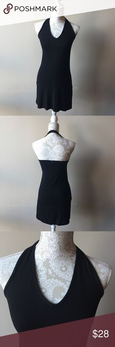 Brandy Melville little black dress Brand new with tags from pacsun. Simple little black dress. Halter neckline with open back. Please note the Brandy Melville label tag is cut out in order to prevent store returns. One size fits most Brandy Melville Dresses Mini