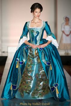 18th Century Robe a l'anglaise   Marquis de Merteuil  Model: Gitta Bremer    April 28 | Woodbury University 48th Annual Fashion Show Benefit at the Millennium Biltmore Hotel, Los Angeles |