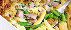 a prepared Green Bean mac and Cheese meal