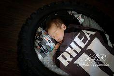 Newborn motocross dirt bike photography KLR Photo Memories