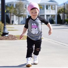 Boys can wear pink to, ya know?! Logan is looking so handsome in our pink beanie