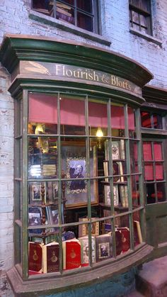Flourish & Blotts- a wonderful antiquarian bookshop with an equally wonderful name (from Harry Potter). Hogwarts, Slytherin, World Of Books, Shop Around, Shop Fronts, Old Books, Vintage Books, Book Nooks, Library Books