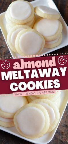A super-soft, sugary holiday dessert that melts in your mouth! Iced with a sweet almond glaze, these shortbread-style cookies are amazing. Bake this simple recipe on Christmas and have a little fun by adding food coloring to the frosting or toasted almond slivers on top!