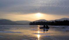 Ice Fishing on Lake Champlain