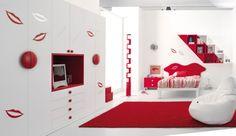 Image result for red bedroom for kids