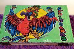 Jimmy Buffett - Custom Hand Painted Cigar Box Art – Cigar Box Art - Recycled - Stash Box - Cigar Boxes - Smoke Box – Parrothead Décor by TimothyDaviesArt on Etsy